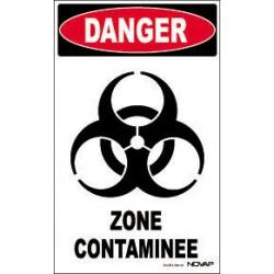 PANNEAU DANGER ZONE CONTAMINE