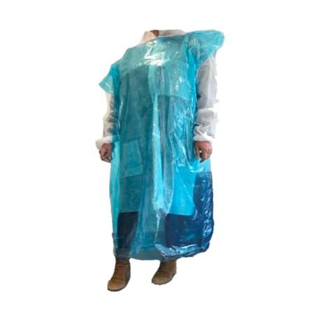 Lot de 20 Sur-blouses bleue translucide jetable