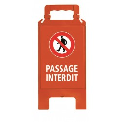 CHEVALET PLIABLE PASSAGE INTERDIT