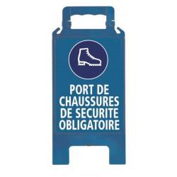 CHEVALET PLIABLE PORT DE CHAUSSURES DE SECURITE OBLIGATOIRE