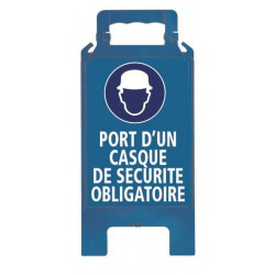 CHEVALET PLIABLE PORT D'UN CASQUE DE SECURITE OBLIGATOIRE