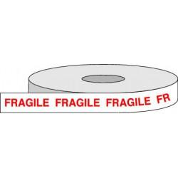 Rouleau adhésif FRAGILE.