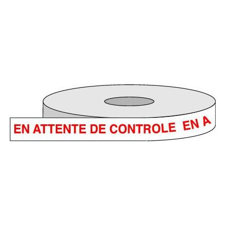 Rouleau adhésif EN ATTENTE DE CONTROLE.