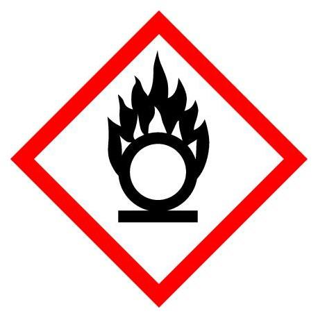 Etiquettes matières dangereuses SGH en VELIN adhésif 100x100mm.
