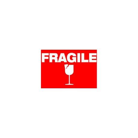 Etiquettes de transport FRAGILE