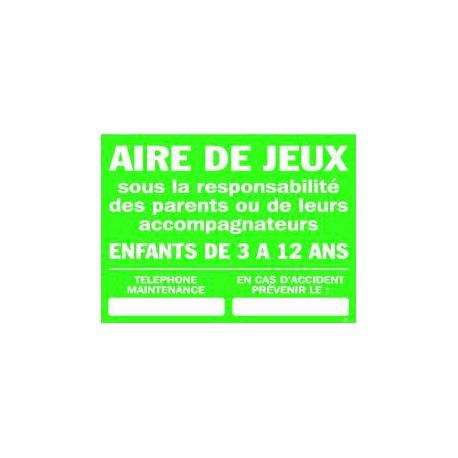Consigne AIRE DE JEUX