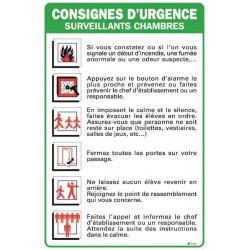CONSIGNES D'URGENCE SURVEILLANTS DE CHAMBRES
