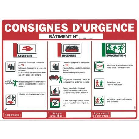 CONSIGNES D'URGENCE ETABLISSEMENTS SCOLAIRES