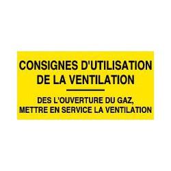 CONSIGNES D'UTILISATION DE LA VENTILATION