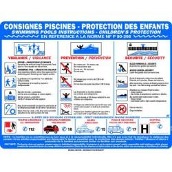 CONSIGNES PISCINES – PROTECTION DES ENFANTS