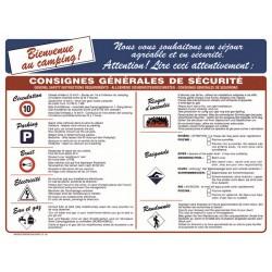 CONSIGNES GENERALES DE SECURITE CAMPING