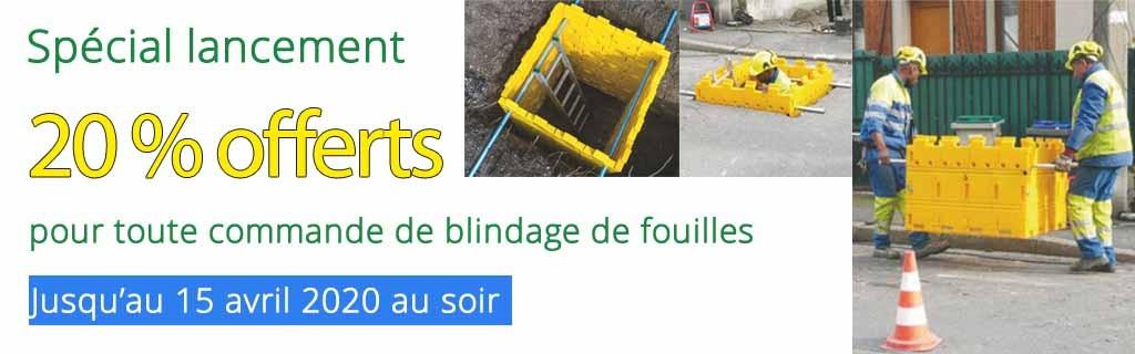 Promotion de lancement sur les kits de blindage de fouilles