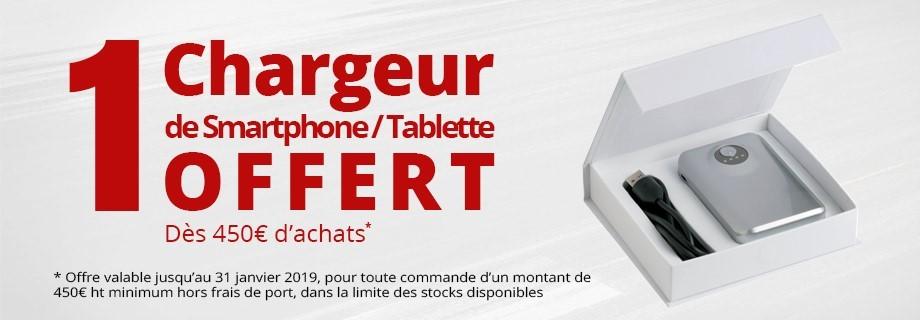 Chargeur externe offert dès 450€ ht